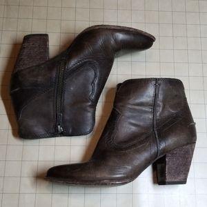 Frye Western Heeled Booties size 6
